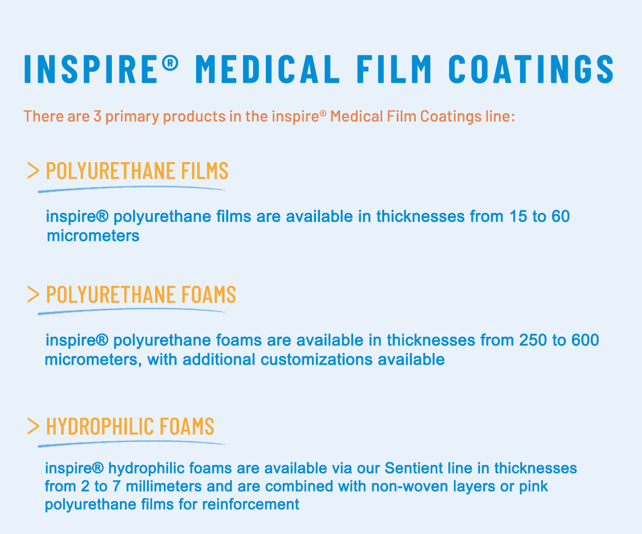 inspire® Medical Film Coatings - Transcontinental Advanced Coatings