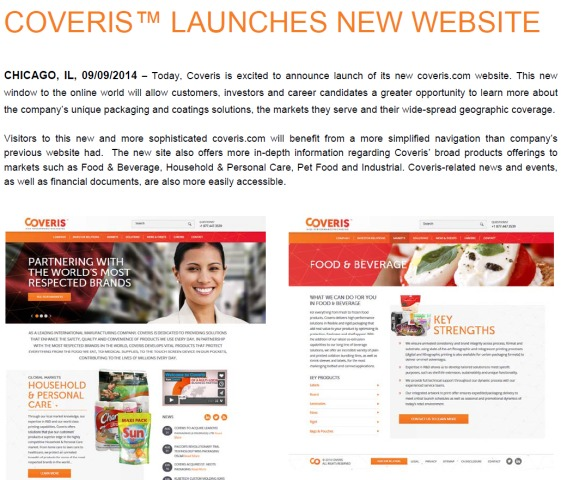 Coveris Launches new website-bmp
