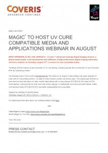 Magic to Host UV Cure Compatible Media and Applications Webinar in August_1