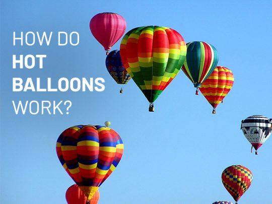 Several hotair balloons