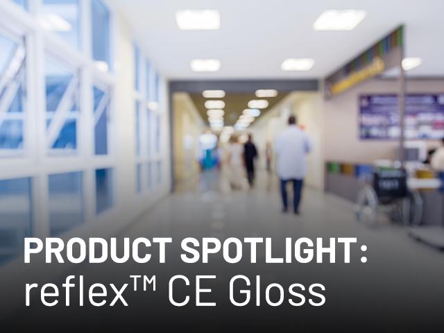 The inside of a hospital hallway representing reflex ce gloss