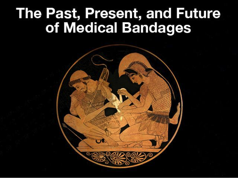 An ancient artwork of people applying bandages